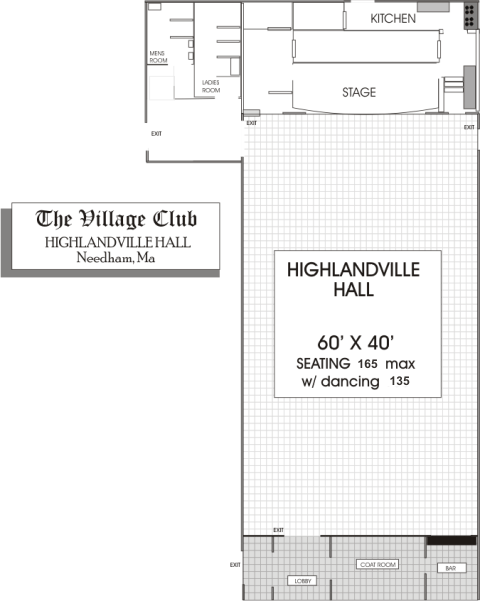 village club hall plan